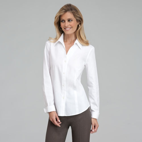 White No Iron Blouses 121