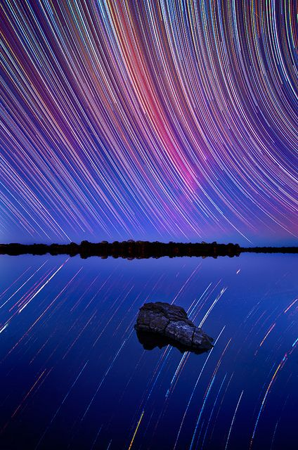 Star Trails Above Australian Outback