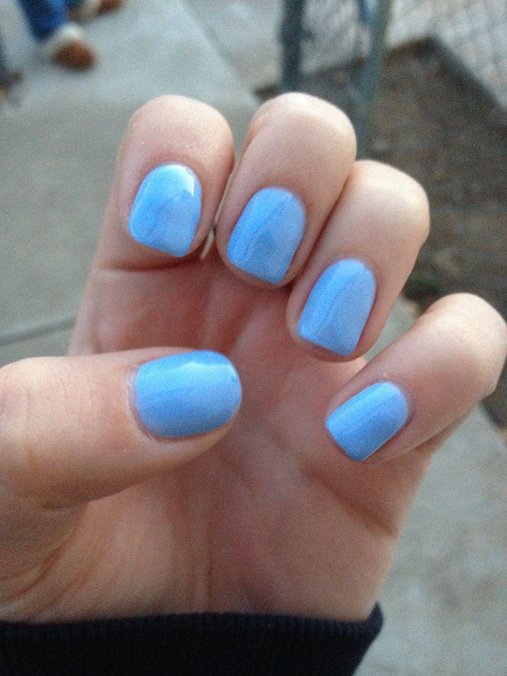 Baby blue gel shellac nails | Nails! | Pinterest