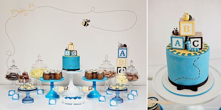 abc blocks baby shower theme
