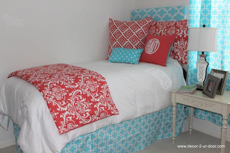 Pin by Pamella Meinert on GraduationCollege  Pinterest ~ 054541_Aqua Dorm Room Ideas