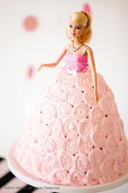 Barbie Birthday Cake: Throw a Glam Barbie™ Themed Birthday Party (http://blog.hgtv.com/design/2014/03/07/throw-a-glam-barbie-themed-birthday-party/?soc=pinterest)