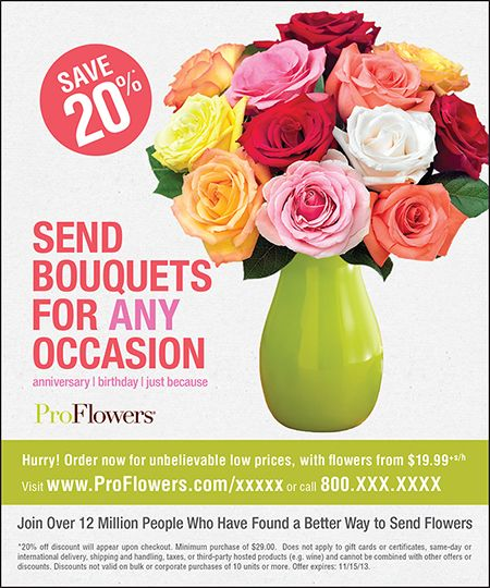 proflowers email sign up