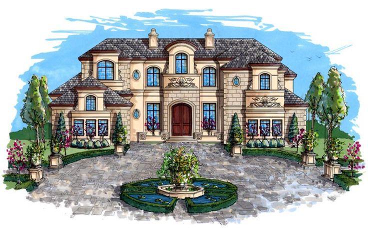 Coastal Contemporary Florida Mediterranean House Plan 71504