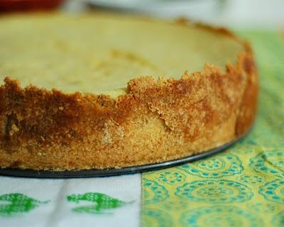 Orange Ricotta Cheesecake with Orange Curd