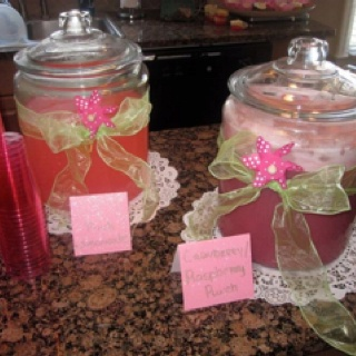 pink lemonade and punch at baby shower girl baby shower pinterest