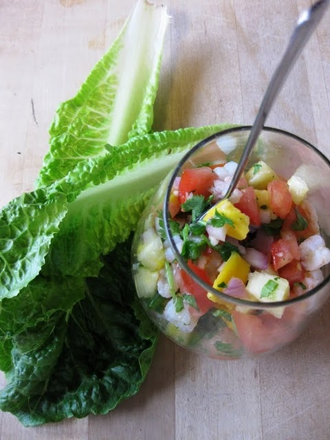 Tropical Shrimp Ceviche with Champagne Mangoes and Pineapple