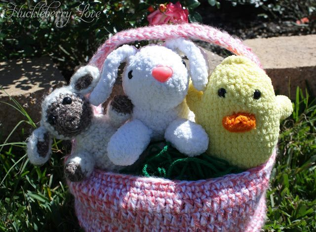 Crochet Easter Trio w/ Basket