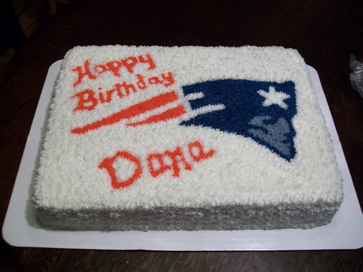 Cake Design England : New England Patriots Birthday Cake cake decorating ...