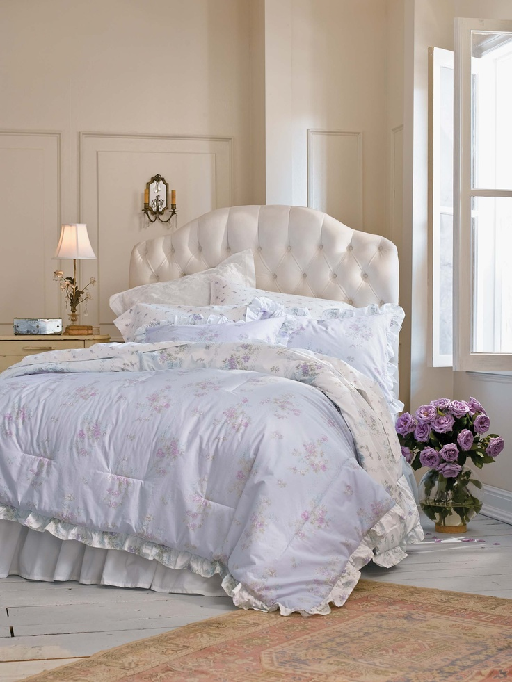 simply shabby chic lilac ruffle comforter set. Black Bedroom Furniture Sets. Home Design Ideas