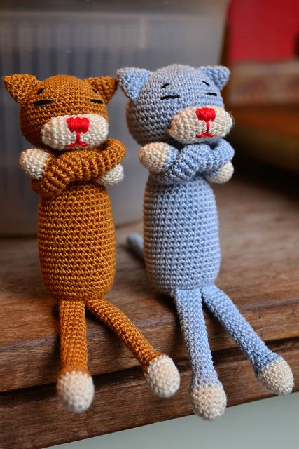 Crocheting For Cats : Crocheted cats Amigurumi Pinterest