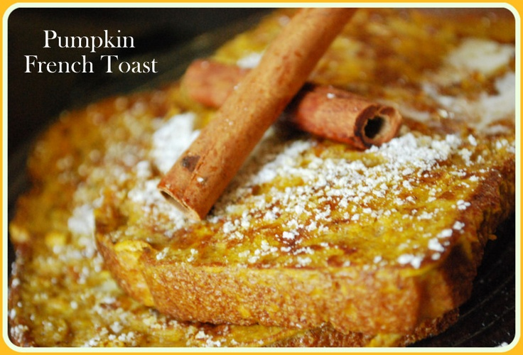 Pumpkin French Toast Between Blue and Yellow