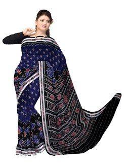 UNM6137- Stunning corporate blue handloom Bomkai pure cotton saree