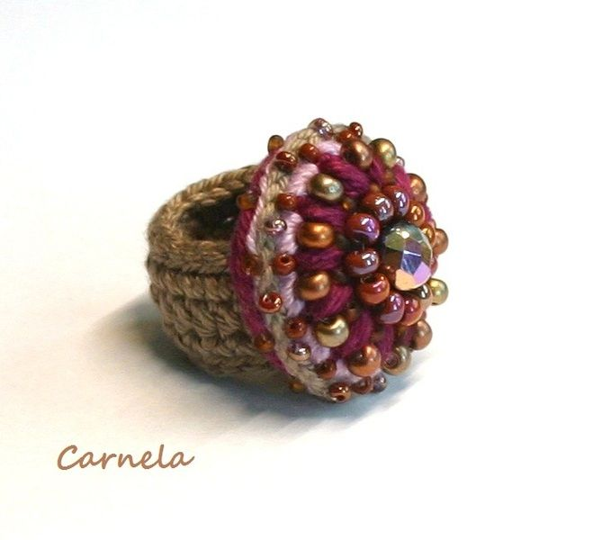 Rings - crochet ring - a unique product by TiffiTwist on DaWanda