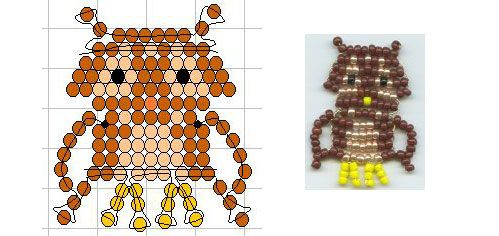 seed bead owl pattern pony and perler