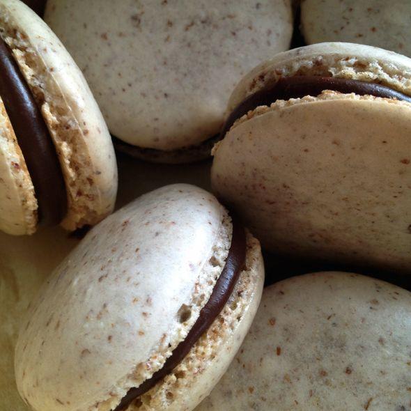 Cinnamon Almond Macarons with Mocha Ganache