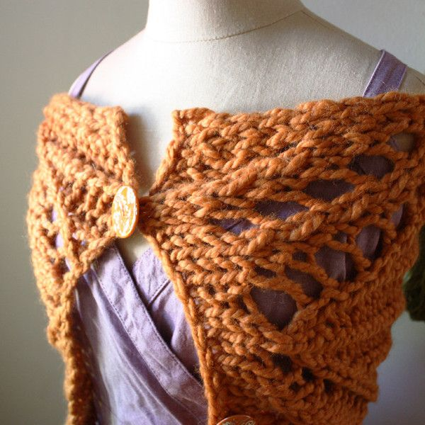 Knitted Cowl Pattern Using Bulky Yarn : Regalia Lace Cowl Capelet Scarf Knitting Pattern