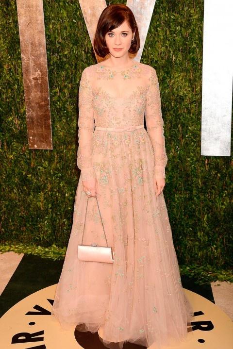 Zooey deschanel p a r t y g i r l o s c a r pinterest for Zooey deschanel wedding dress