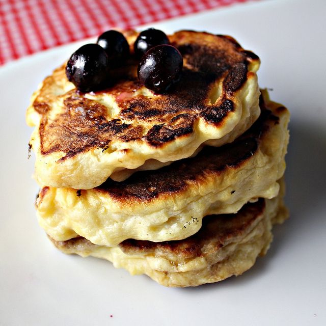 Meyer Lemon Ricotta Pancakes with Meyer Lemon Curd