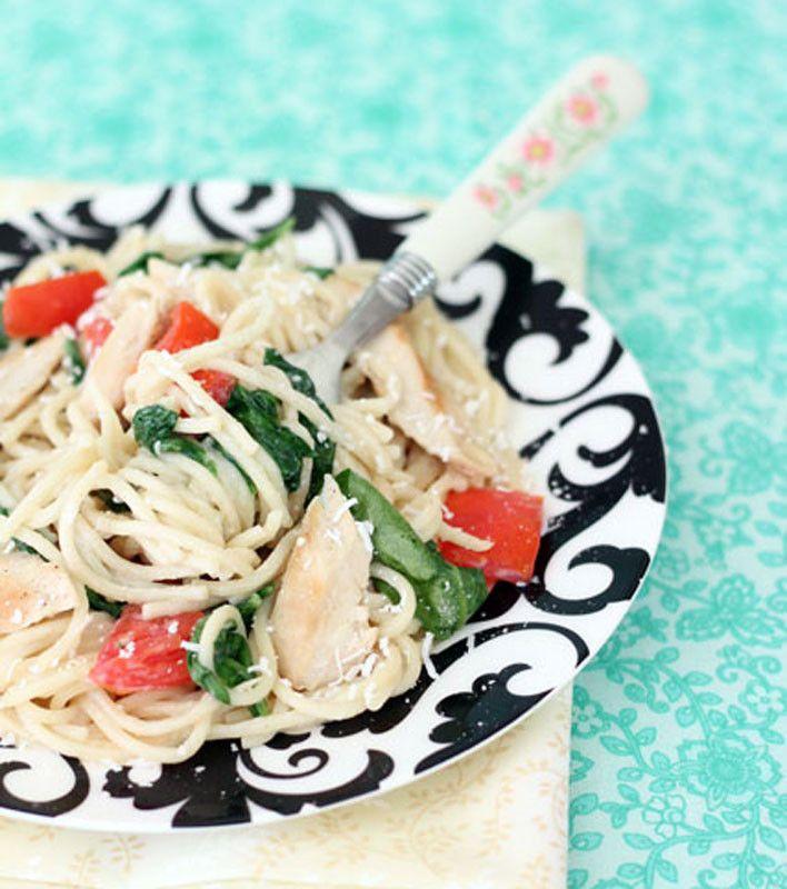 Grilled Chicken Florentine Spaghetti | Recipes | Pinterest