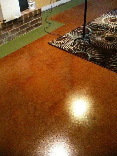 stained concrete basement basement rooms pinterest