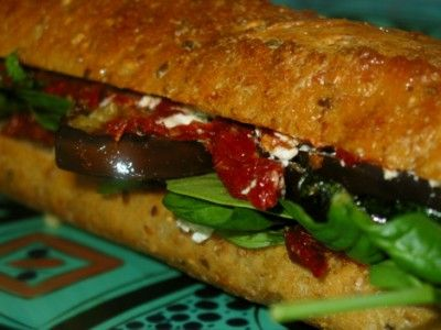 Grilled Vegetable, Herb, and Goat Cheese Sandwiches