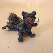 crochet squirrel on Etsy, a global handmade and vintage