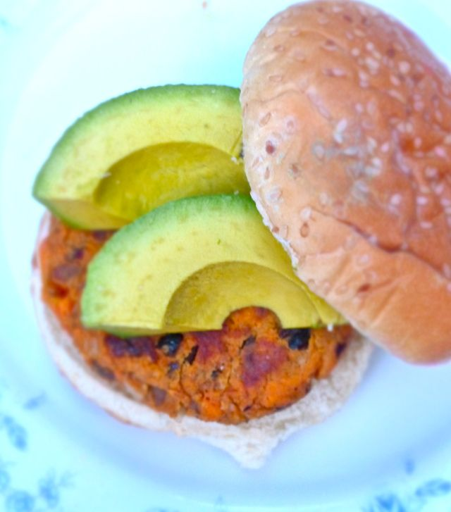 black bean and sweet potato burger | Mmmm Recipes... | Pinterest