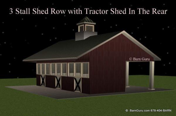 3 Stall Horse Barn Plans Farm Ideas Pinterest