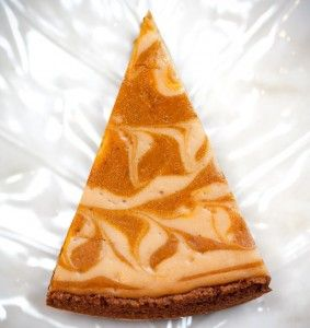 Pumpkin Swirl Cheesecake! Make a couple changes, gluten free gingersnap cookies and coconut sugar instead of brown sugar, wouldn't change the flavor at all.