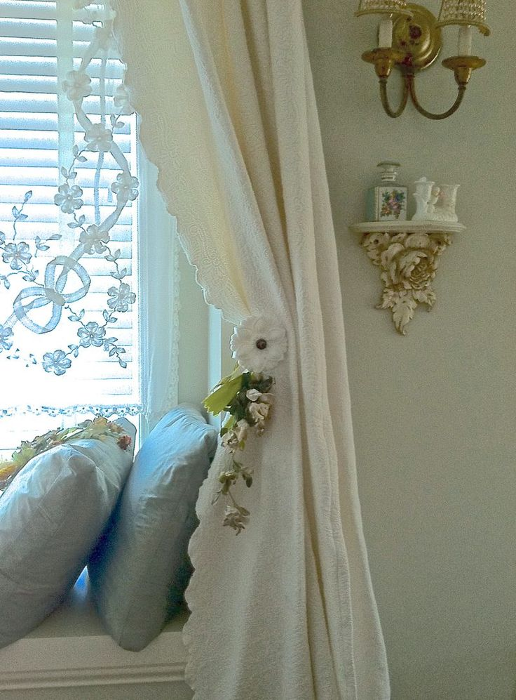 French lace curtain general decor pinterest