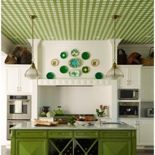 Green farmhouse kitchen love  Farmhouse kitchen  Pinterest