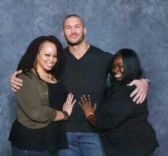 Randy Orton with fans ...