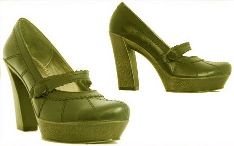 casual women shoes green