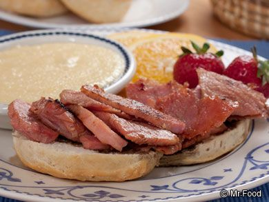 Country Ham with Red Eye Gravy | mrfood.com