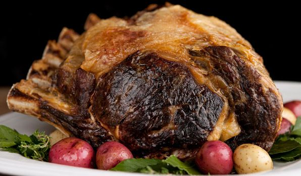 Prime Rib Roast with Red Wine Jus (Serve with Yorkshire Pudding and ...