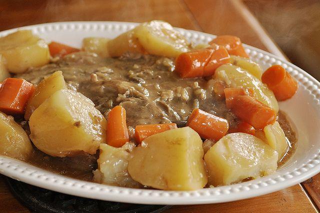Roast, made easy :) Pot Roast- 3-5 lbs. 1 envelope Lipton onion soup ...