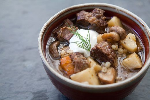 Beef and Barley Stew with Mushrooms | Recipe