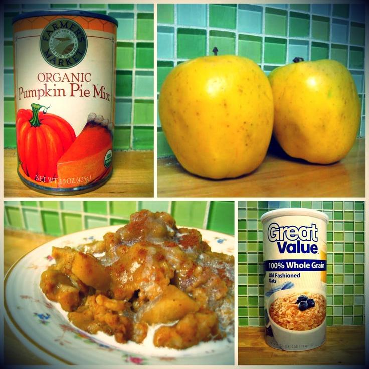 Crock pot: Pumpkin-Pie Oatmeal | Pumpkin Pie | Pinterest