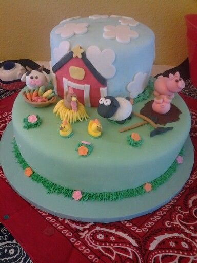 Baby Shower Cake Farm Animal Theme