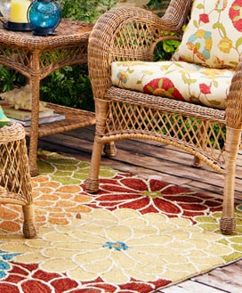 LOVE this Pier 1 outdoor rug Home Decor