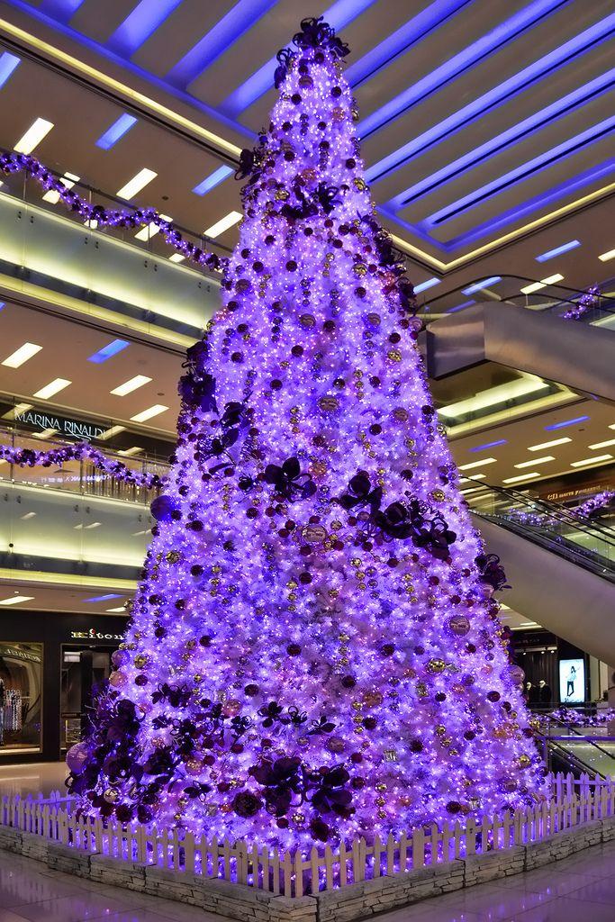 purple christmas tree at scotts square singapore