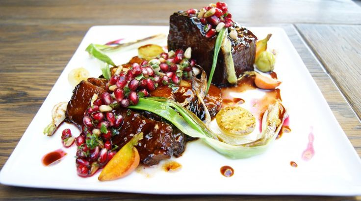 : This dish balances the savory character of brisket with pomegranate ...