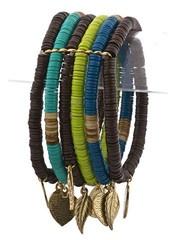Leaf Charm Bracelet Set