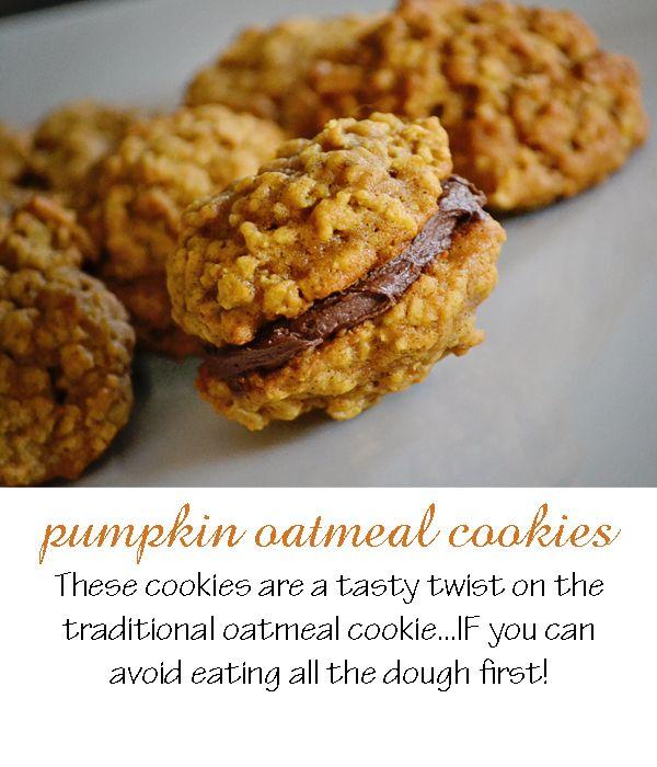 pumpkin oatmeal cookies. my oh my