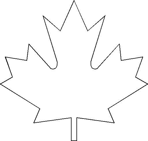 big maple leaf template | Kid Stuff | Pinterest