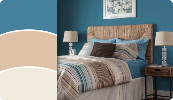 Cream And Teal Bedroom