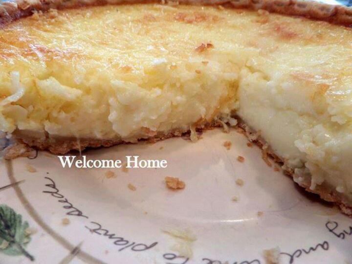Coconut Custard Pie | Foodies...breads...odd & ends... | Pinterest