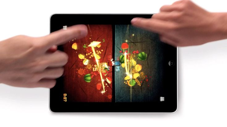 16 best multiplayer iPad games including multipong, fruit ninja. We like to play Scrabble in pass and play mode.