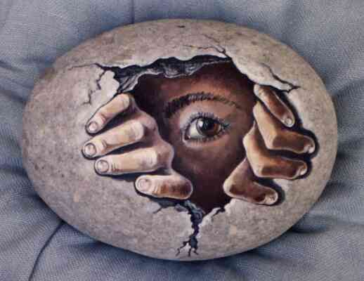 Amazing Painted Rock Egg Rocks Pinterest